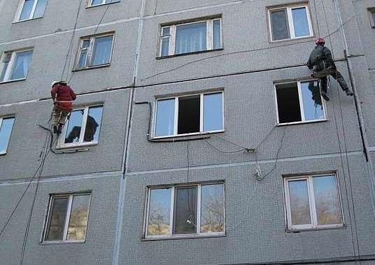 Утепление фасадов многоквартирных домов с фото и видео.